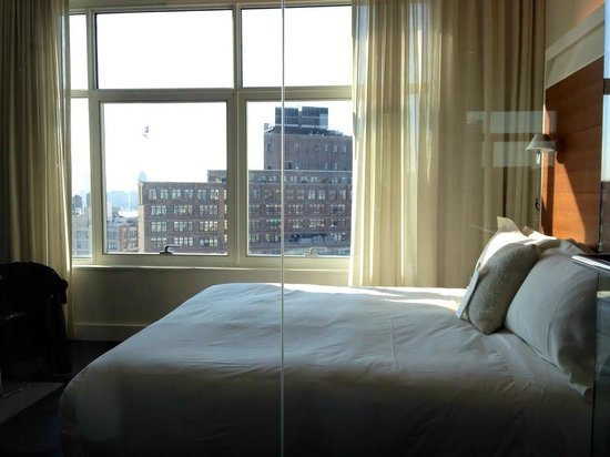 The James New York: Rm 1606, view from the toilet.  Srsly.