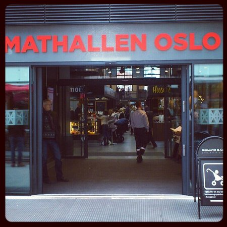 Friends Fair Trade: The entrance to Mathallen, the new food Mekka in Oslo