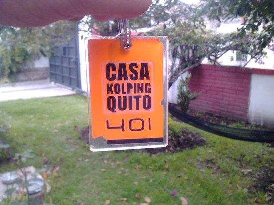 Hotel Casa Kolping Quito : Llave de mi habitacion