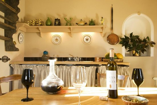 Le Pavillon de Galon : The live-in-kitchen offering our wine