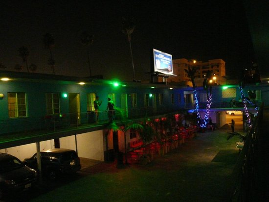 Banana Bungalow Hollywood: la cour intérieure