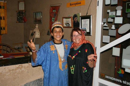 Hotel Nomad Palace: avec Mohamed, rieur, jamais fatigué