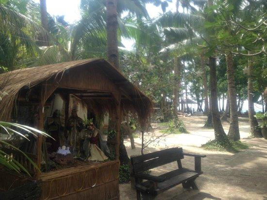 Sea Wind Boracay Island : Nativity scene at entrance --- this was Christmas season