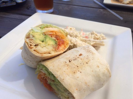 The Nomad Cafe: Lunch special Arbol Fish Wrap