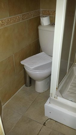 Dylan Apartments Earls Court: Portakabin of a bathroom