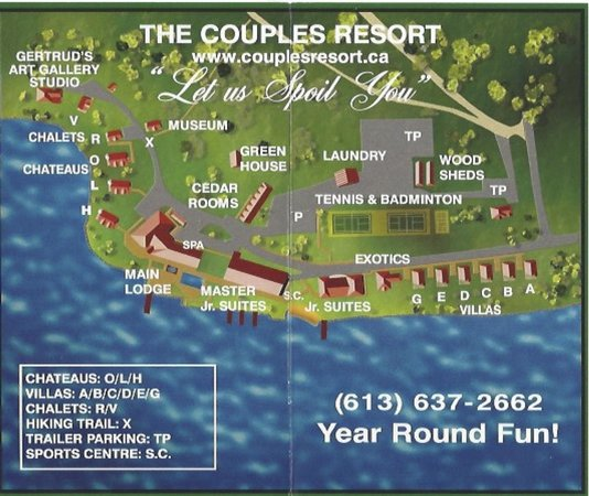Couples Resort: Map of resort and property