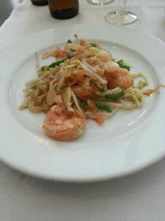 Restaurante Chino Hoy : Chop suey con gambas