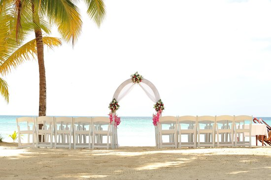 Hotel Riu Palace Tropical Bay: set up for our wedding