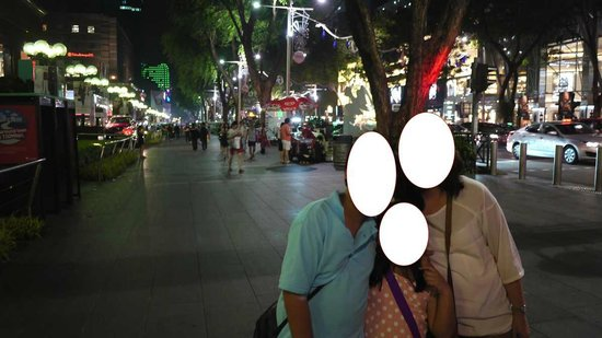 Orchard Road: very safe for families to take a stroll