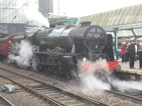 Royal Scot 46115 at Carlisle on the Railway Touring Company's Winter Cumbrian Mountain Express