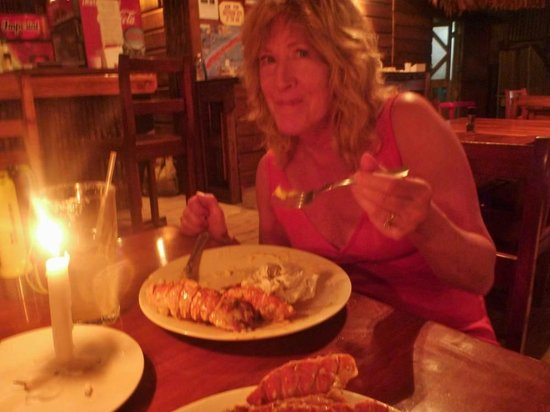 Beachers: Enjoying the lobster special!