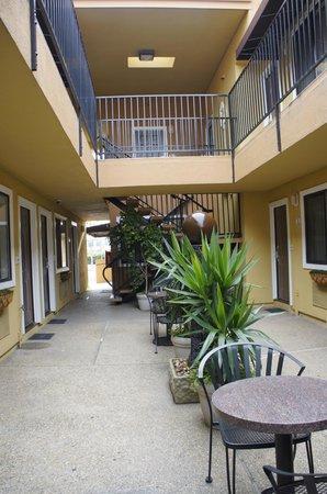 Americas Best Value Inn Suites San Francisco Airport Внутренний дворик