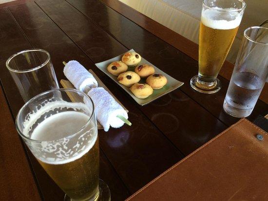 L'Alyana Villas Ninh Van Bay: Jetty lounge snacks