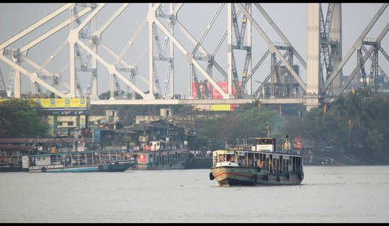 Ferry with the Howrah bridge backdrop