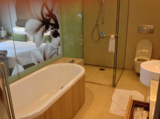 Crowne Plaza Changi Airport: Clean bathroom