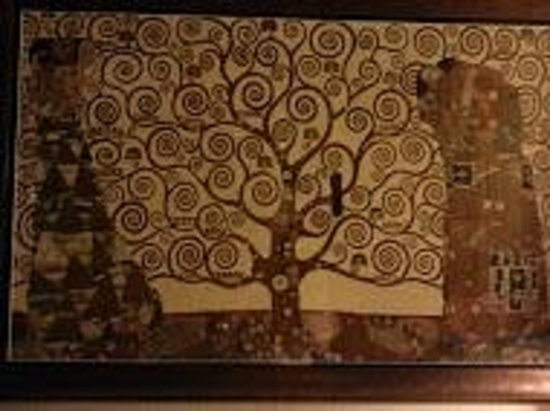 Home Hotel Lava Hot Springs: Gustav Klimt - Tree of Life painting in room
