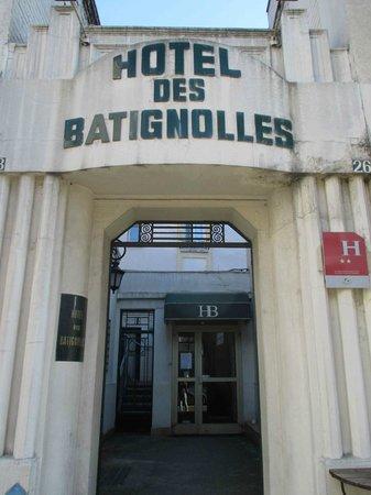 Hotel des Batignolles: Dall'esterno