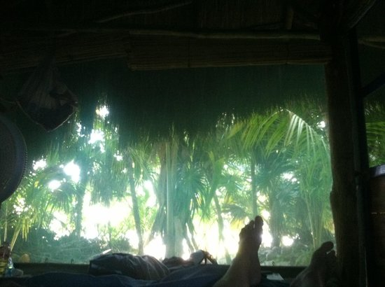 Xamach Dos : View from bed in Secreta