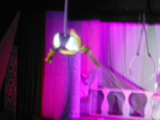 Club Med Punta Cana : Our friend from trapeze, Emilie invited us to her show..they do shows every day!