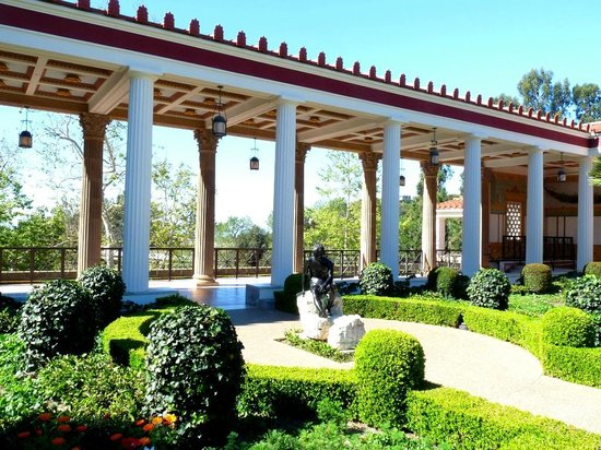 Columns From Garden Picture Of The Getty Villa Malibu