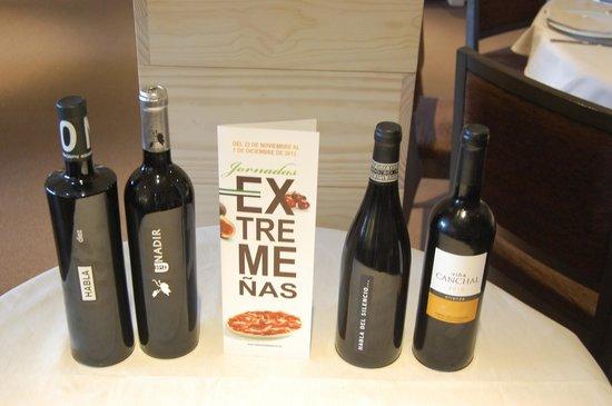 Restaurante Los arcos: vinos extremeños