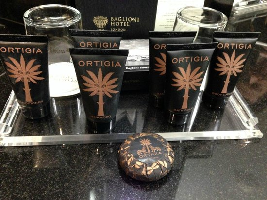 Baglioni Hotel London: Ortigia - luxury bath products