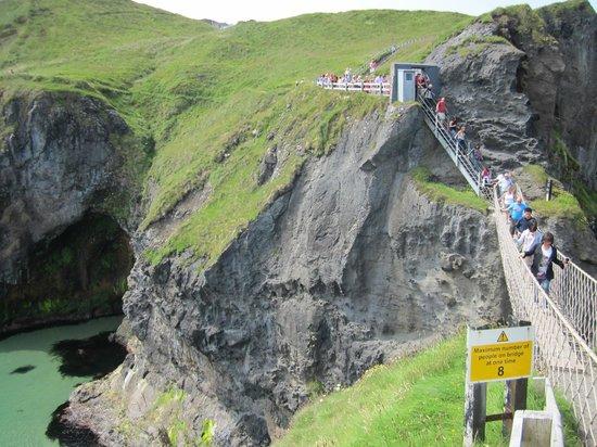 Carrick-A-Rede Rope Bridge: Steep stairs to bridge