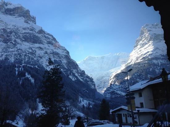 Hotel Gletschergarten: Aussicht vom Frühstückstisch