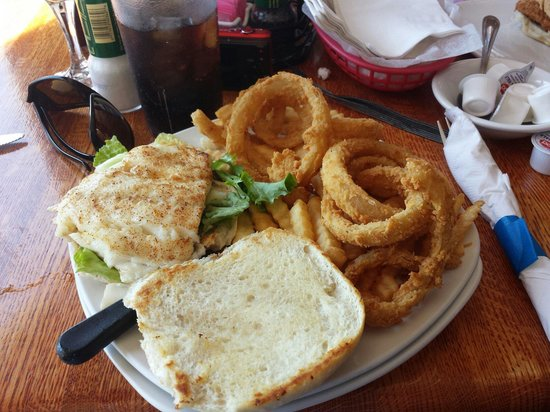 Village Fish Market Restaurant and Lounge: Fish Sandwich is more than enough, with all the tarter sauce you can eat on the side.