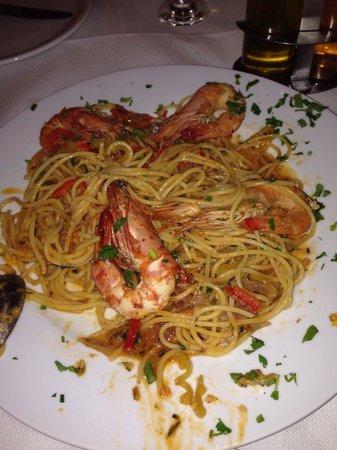 Naoussa Restaurant: Shrimp spaghetti