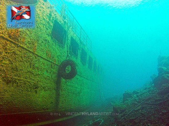 Santorini Dive Center: Wreck dive at Nea Kameni