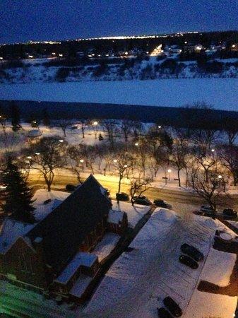 Radisson Hotel Saskatoon: View at night