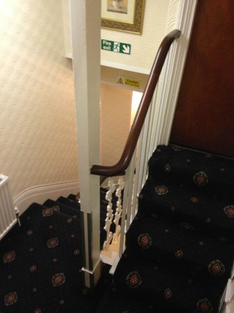 Falcon Hotel: stairs