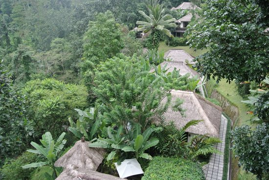 Hanging Gardens of Bali: looking down at some of the villas