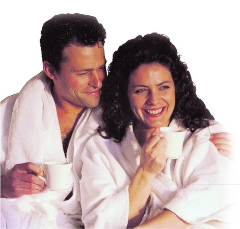The Manhattan Club: Couple in robes