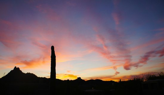 Four Seasons Resort Scottsdale at Troon North: View from Proof Restaurant At Sunset