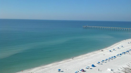 Hilton Pensacola Beach: View from the 11th floor (Room 1144)