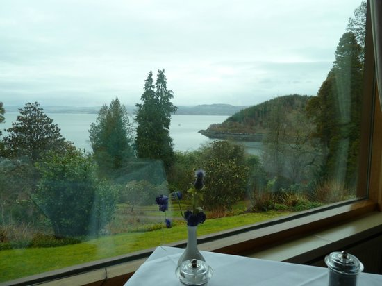 Stonefield Castle Hotel: View from dining table.