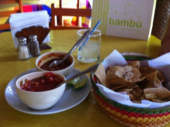 Tequila y Salsa Brava : salsa and cips