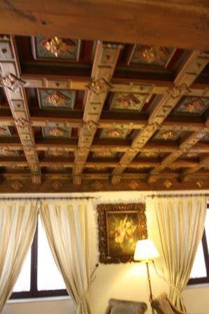 Hotel Murillo : Prachtige plafonds in ontvangsthal en ontbijtzaal
