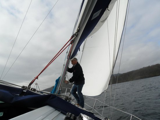 Bowness-on-Windermere, UK: John keeping his balance!!!