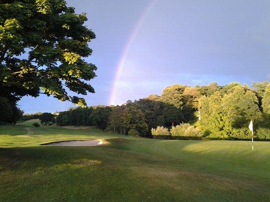 Shrigley Hall Golf Course: 18th green rainbow
