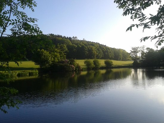 Shrigley Hall Golf Course: Fishing lake adjacent to 18th fairway