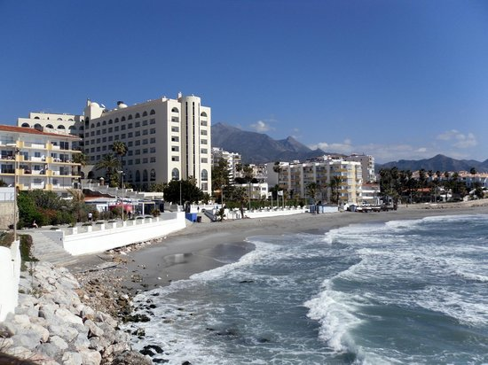 Hotel Riu Monica : The hotel backs on to a promenade and small beach.