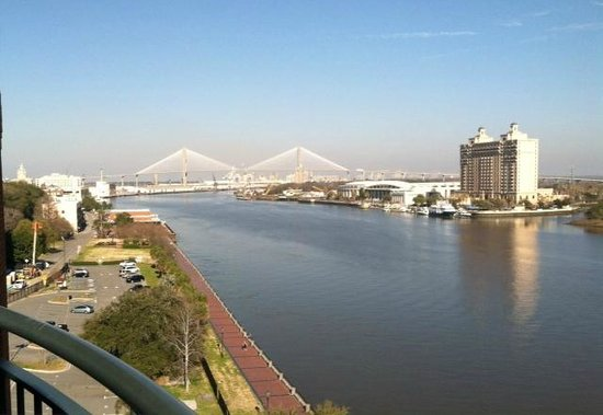 Savannah Marriott Riverfront: View from Room on 8th Floor