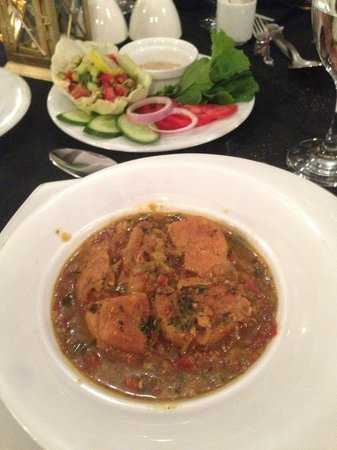 The Lantern Room: Chicken Tajine, comes with salad