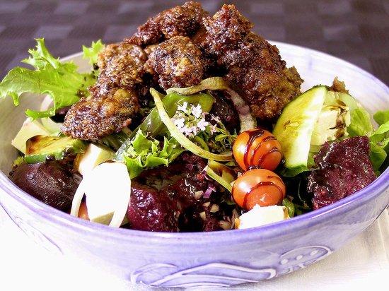 Julians: Julian's famous chicken liver salad