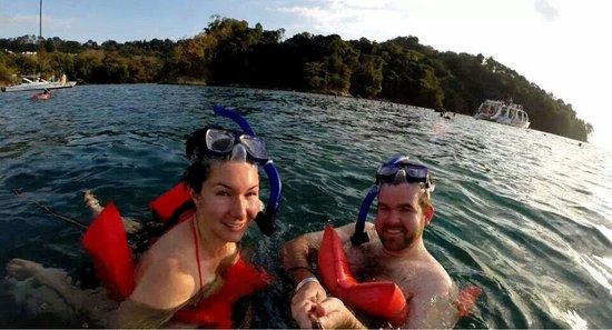 Manuel Antonio Catamaran Adventures: Doing some snorkeling