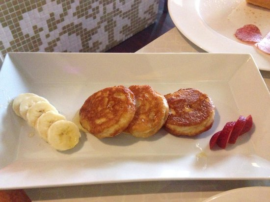 Delicious pancakes picture of design hotel jewel prague for Design hotel jewel prague tripadvisor