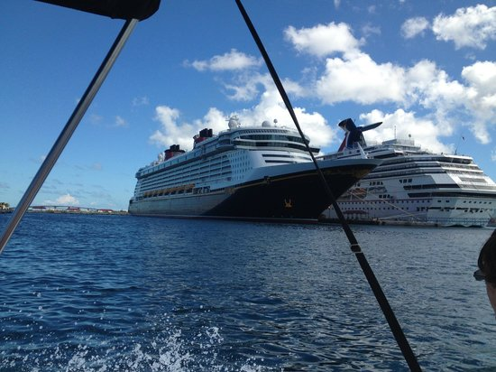 Blue Hole Watersports : Passed the entire lenght of our beautiful ship.